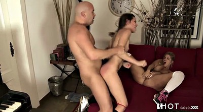 Fire, Teen threesome, Skinny threesome