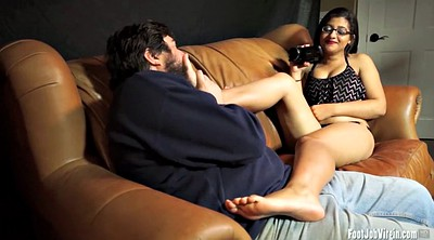 Casting, Glasses, Foot licking