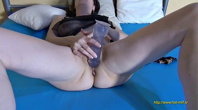 German milf, Huge dildo