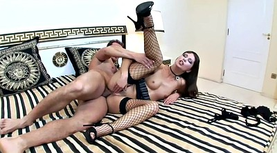 Angelina, Fishnet stockings, Stiletto