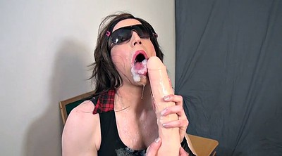 Crossdresser, Sex tv, Dildo sucking, Crossdress