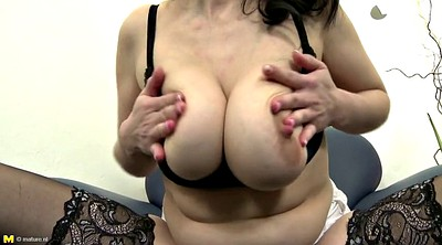 Mature, Lingerie, Busty mom, Moms pussy, Busty granny