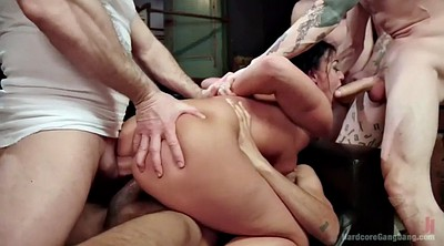 Outdoor gangbang, Multiple, Master, British anal