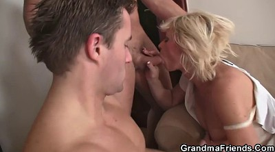 Grandma, Wife threesome, Hot wife, Mature wife, Granny threesome