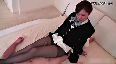 Japanese black, Asian footjob, Nylon footjob, Japanese pantyhose, Japanese nylon