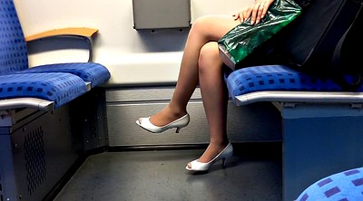 Foot, Nylon foot, Heels, Nylon fetish