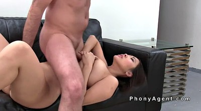 Huge tits, Asian office, Fake agent