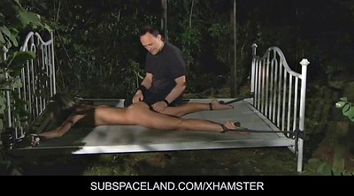 Tied, Young anal, Wood, Anal bondage