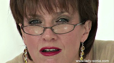 Glass, Milf handjob, Glasses granny