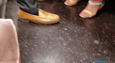 Close up, Train, Black foot, Trainning, Candid foot, Candid feet