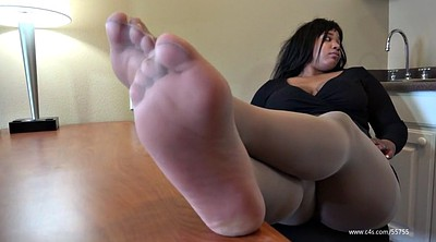 Nylon, Ebony feet, Shoeplay, Office feet, Nylon pantyhose, Black nylon