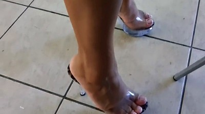 Leggings, Foot fetish, Mature foot, Sexy mature, Sexy leg, Heeled