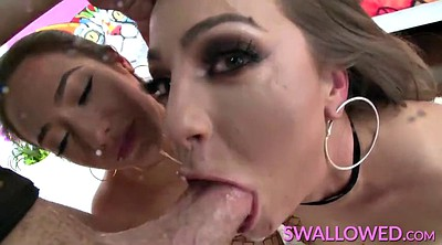 Swallow, Blowjob, Deepthroat swallow, Bbw deepthroat