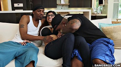 Mia khalifa, Teen and two black, Khalifa, Ebony threesome, Arab black