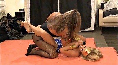 Fight, Wrestling, Pantyhose lesbians, Pantyhose lesbian, Cosplay pantyhose