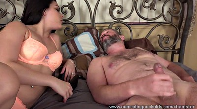 Wife threesome, Watching, Husband watch
