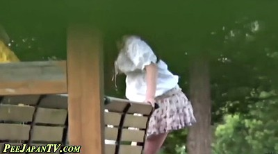Public, Japanese public, Japanese peeing, Outdoor asian, Japanese skirt