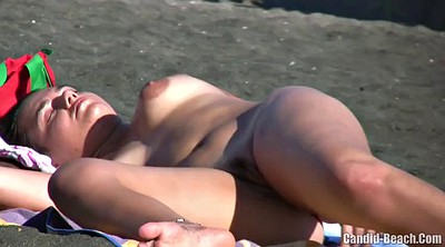 Beach, Big clit, Nudist, Lady voyeur
