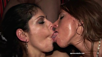 Group, Cum kiss, Group kissing, Cum kissing, Cum gangbang, Susie