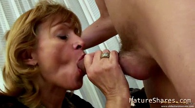 Blonde mature, Mature strip