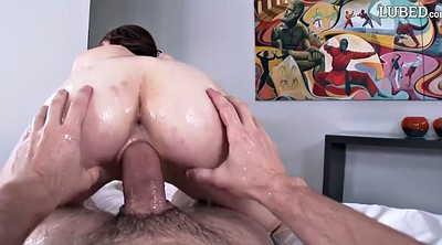 Ann, Oil big tits, Oily handjob