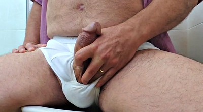 Gay pee, Underwear, Daddy wanking