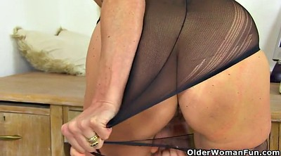 British, English, Mature nylon, Granny nylon