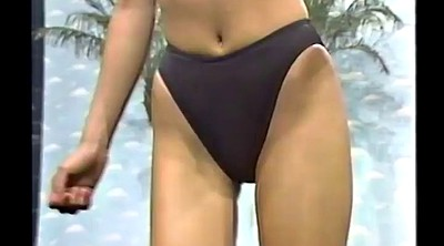 Retro, Swimsuit, Japanese tv, Leotard, Tv show