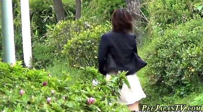 Asian, Japanese public, Rush, Outdoor peeing
