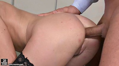 Shaved, Long, Teen stockings, Stocking anal