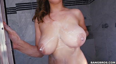 Shower, Lena paul, Solo huge tits, Huge tits solo, Huge natural tits