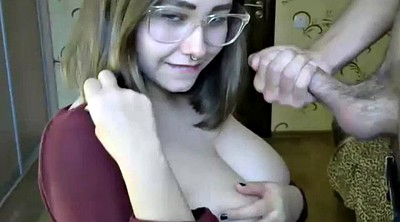 Glasses, Nerd, Big boobs webcam