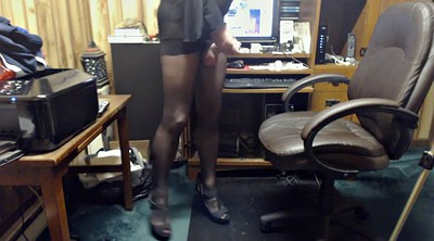 Crossdresser, Black pantyhose, Crossdress
